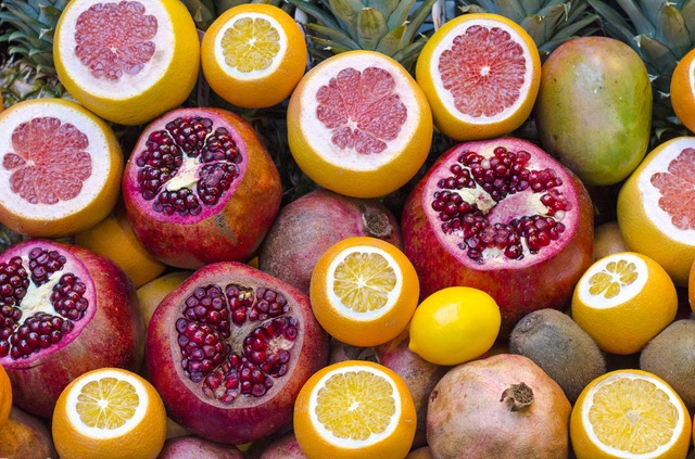 Orange Fruit Lemon Pomegranate Grapefruit