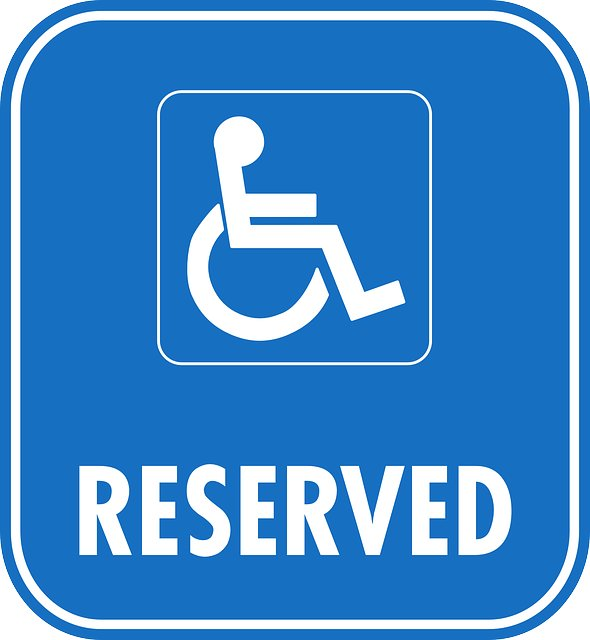 Disabled Parking Reserved Car