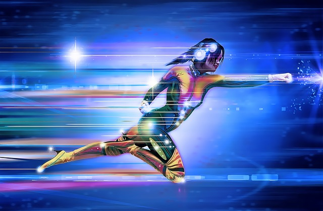 Superhero Woman Running