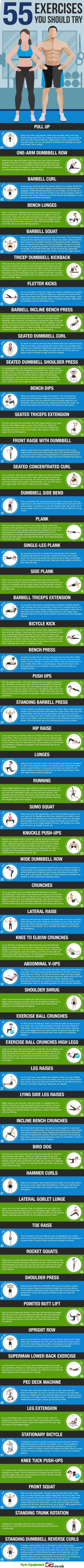 55 Exercises You Should Try